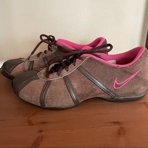 Nike Brown Suede/Pink Athletic Shoes, Sz 8